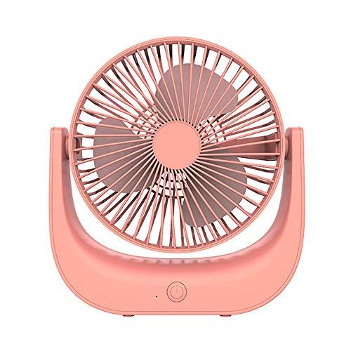 Mini Ventilador De Mano, Ventilador USB, Pequeño Ventilador De Escritorio Personal Portátil Impulsado por Batería Recargable USB, para Viajes, Oficina Y Uso Doméstico (Color : Pink)