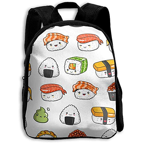 Borse Di Scuola Vari Kawaii Sushi Borsa A Tracolla Stampa Per Bambini Zaino Daypack Bookbag Ragazza Scuola Casual Ragazzi