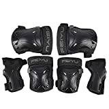Vinqliq Durable Children Kids Cycling Roller Skating Protective Gear Knee Elbow Wrist Support Protective Pads Guards Set for Skateboard and Other Extreme Sports Equipment (Pink XXS)