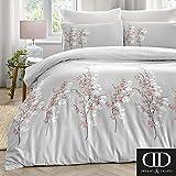 Dreams & Drapes - Set copripiumino per letto king size, motivo: fiori orientali, colore: Rosa