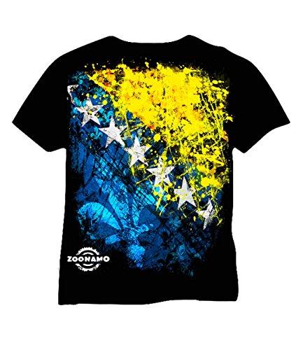 Zoonamo T-Shirt Bosnien Classic, Farbe:schwarz, Größe:M
