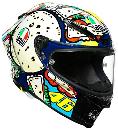AGV Race Casco Pista GP RR Menü Misano VR46 Casco integral de moto de carbono, ML
