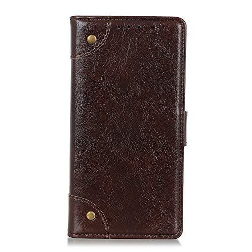Brieftasche Schutzhülle für Rakuten Hand Hülle mit Kartenfach Etui Standfunktion & Magnetisch Handyhülle Leder Flip Lederhülle für Rakuten Hand (Kaffee)