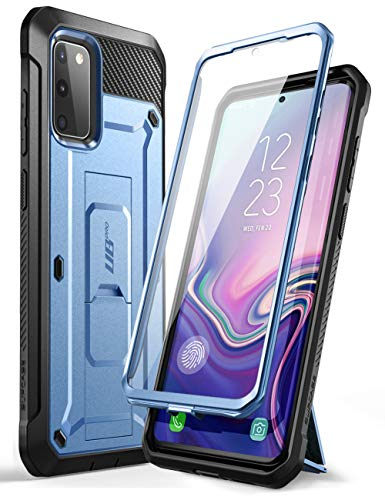 SupCase Unicorn Beetle Pro Series Designed for Samsung Galaxy S20 FE Case (2020 Release), Full-Body Dual Layer Rugged Holster & Kickstand Case with Built-in Screen Protector (Slate Blue)