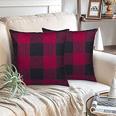 Amazon Promo Code for Plaid Throw Pillow Covers  Cotton Linen DecorativeFarmhouse 19102021041327