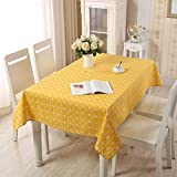 DSman Wachstuch Tischdecke abwaschbar Tischdecke aus Baumwolle und Leinen, einfaches Hirtengitter
