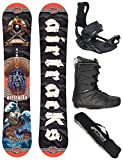 AIRTRACKS Snowboard Set/Board Mr.Yash Carbon Wide Flat Rocker 163 + Snowboard Fijaciones Master + Boots Strong 45 + SB Bag