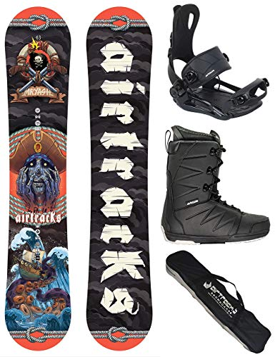 Airtracks Snowboard Set/Board Mr.Yash Carbon Wide Flat Rocker 163 + Snowboard Bindung Master + Boots Master QL 47 + Sb Bag
