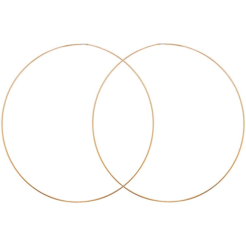 Very Thin Endless Hoops, 120mm 4.7