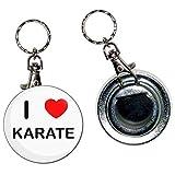 I Love Karate - Llavero con abridor de botellas de 55 mm con llavero