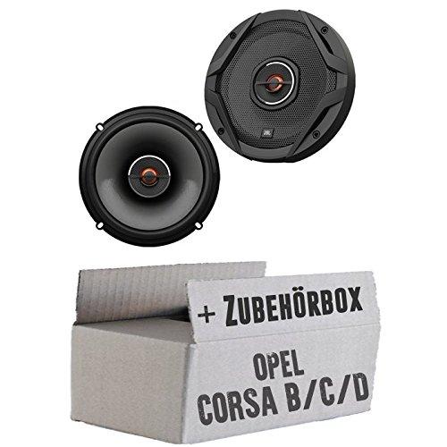 JBL GX602 | 2-Wege | 16,5cm Koax Lautsprecher - Einbauset für Opel Corsa B/C/D - JUST SOUND best choice for caraudio