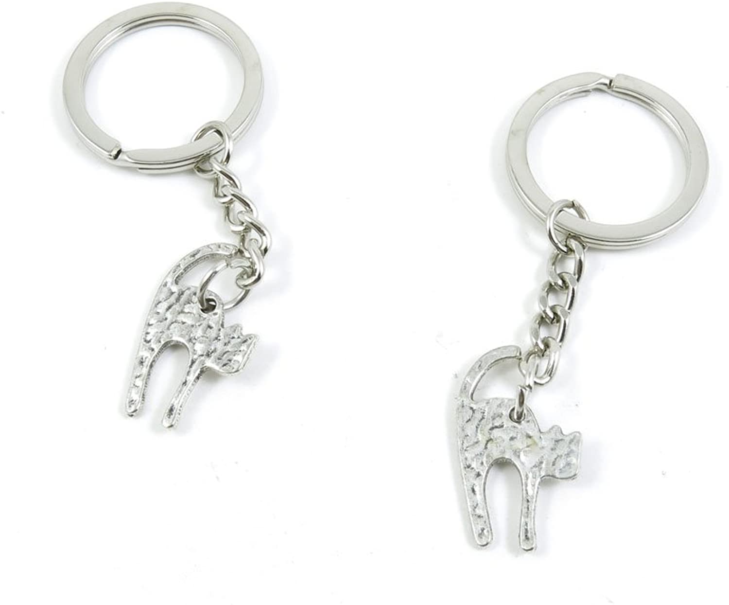 210 Pieces Fashion Jewelry Keyring Keychain Door Car Key Tag Ring Chain Supplier Supply Wholesale Bulk Lots X1WY3 Cat Kitten