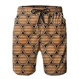 NDNG Medinės statinės Greitai džiūstančios, elastinės nėrinės, šortų paplūdimio šortai, kelnės, maudymosi kelnės, vyriškas maudymosi kostiumėlis su kišenėmis