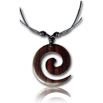 Collar cadena de madera Maui negro hippie Boho madera perlas naturales joyas a mano