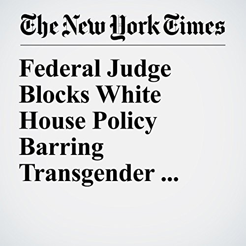 Federal Judge Blocks White House Policy Barring Transgender Troops copertina