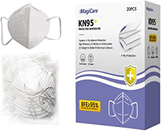 Magicare 4-Ply Mouth Noise Protection Filtration>95%, Compatible with Anti-Fog, Dust-Proof, Adjustable Headgear Full Protection, Fast Delivery from US