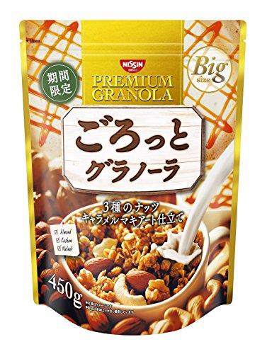 『日清シスコ ごろっとグラノーラ 3種のナッツ キャラメルマキアート仕立て 450g』のトップ画像