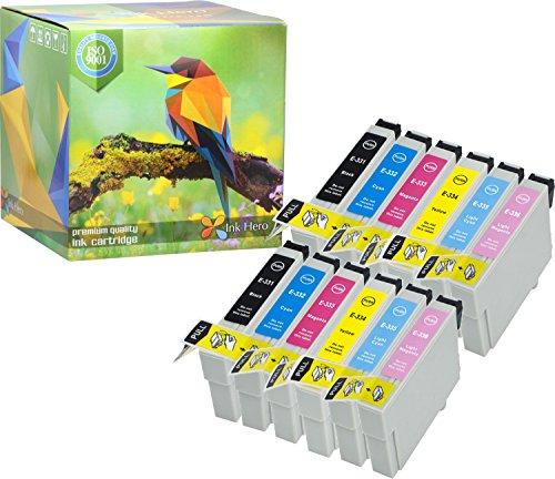 Ink Hero 12 confezioni cartuccia Epson Stylus Photo 33 950 960 T0337 T0331 T0332 T0333 T0334 T0335 T0336 cartucce di inchiostro per stampante