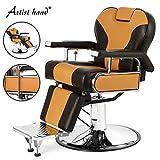 Artist Hand Heavy Duty Barber Chairs Hydraulic Reclining Barber...