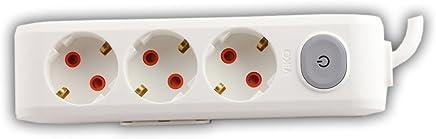 Viko Multi-Let Üçlü Priz Anahtarlı Topraklı Kablolu Çocuk Korumalı 2 Metre-Beyaz