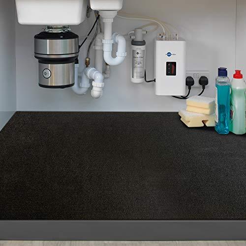 ITSOFT - Alfombrilla para debajo del fregadero, bandeja de cocina, revestimiento de armario, capa impermeable, reutilizable, lavable,...
