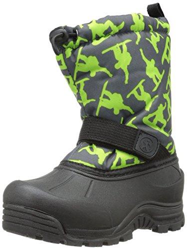 Northside Frosty Winter Boot (Toddler/Little Kid/Big Kid),Dark Grey/Green,6 M US Toddler
