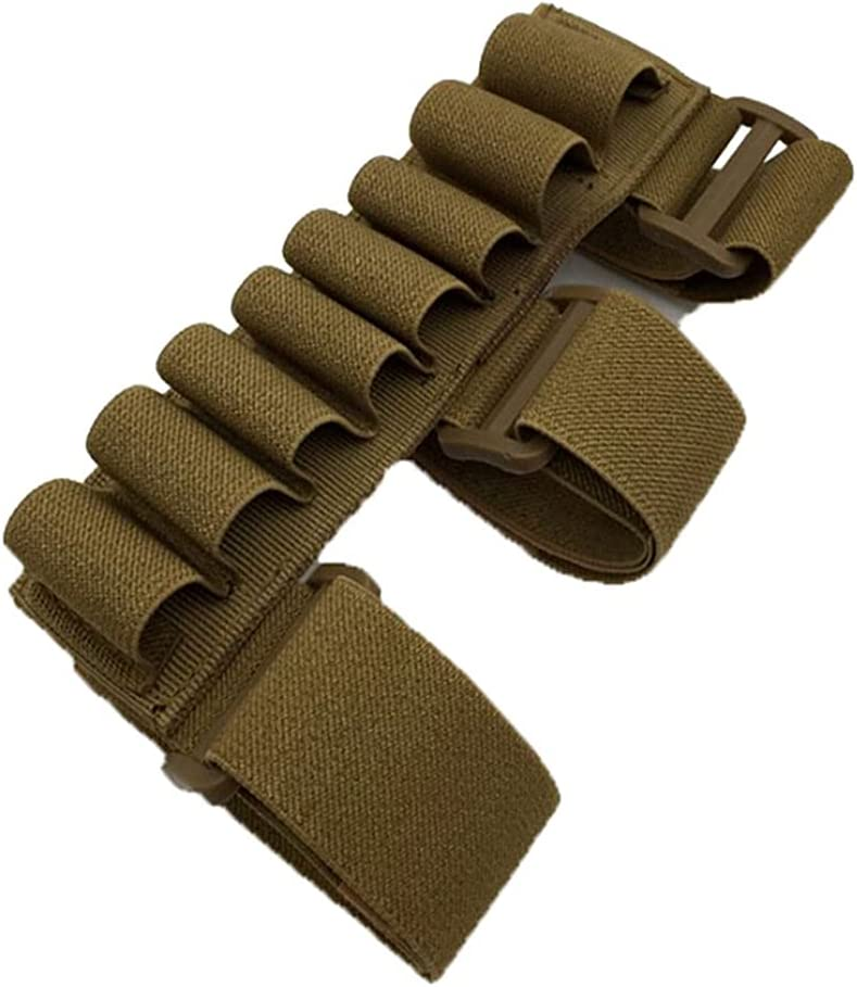 Tactical 8 Rounds Ammo Shell Holder Forearm Carrier Shooter Sleeve Mag Pouch