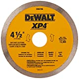 DEWALT Diamond Blade for Porcelain Tile, Wet/Dry, 4-1/2-Inch (DW4765)