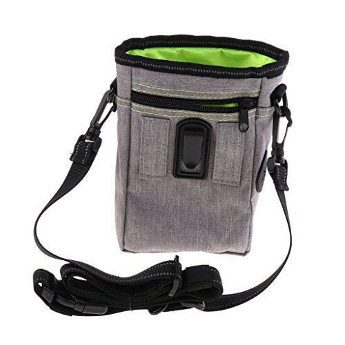 petsola Bolsa De Entrenamiento De Perros para Mascotas con Manos Libres Y Bolsas De Basura con Correa Ajustable - Verde