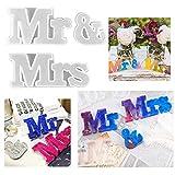 Iriisy - 3 moldes de resina epoxi, letreros de silicona Mr & Mrs, moldes de fundición de bricolaje para mesa de fiesta, mesa de boda, cena, decoraciones de boda, proyecto de resina