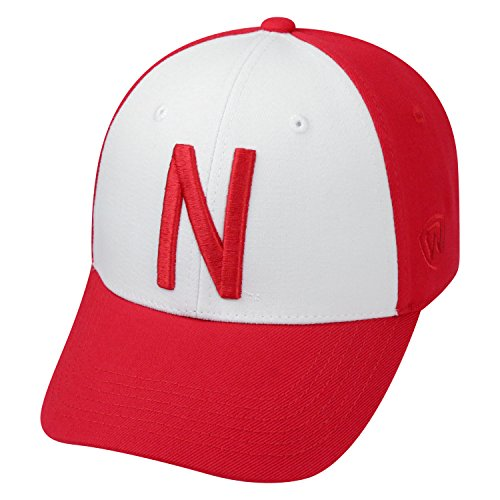 Top of the World NCAA-Premium Collection Two Tone-One-Fit-Memory Fit-Hat Cap- Nebraska Cornhuskers