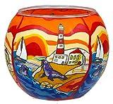 Himmlische Düfte Geschenkartikel GmbH Seaside Windlicht, Glas, bunt, 11x11x9 cm