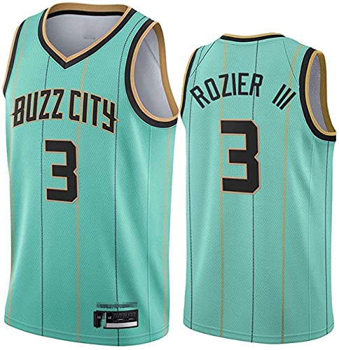 # 3 Charlotte Hornets Jersey Camiseta Sin Mangas Sports Jersey Chaleco Celtic, Malla Vintage Jersey Bordado Classic Baloncesto Sportswear, B - M