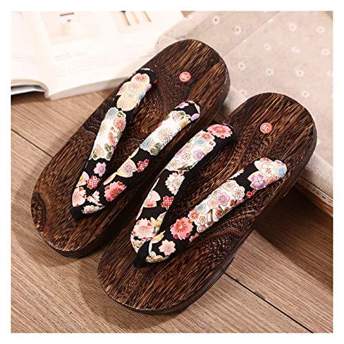 ZCPCS Zapatillas de Madera para Mujer Palabras de Personas Torres y Ropa de Madera 屐 屐 Cosplay Animation Props Shoes (Color : 04, Size : 36)