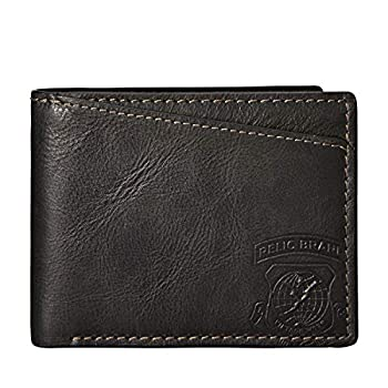 Relic by Fossil Men s Hatch Leather and Polyester Traveler Bifold Wallet Color  Smoke Model   RML5826001