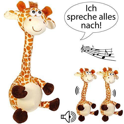 2 Stück _ NACH sprechende - Giraffen -  Ich spreche Alles nach - tanze & bewege Mich dazu  - aus Stoff / Plüsch - Plüschtier - mit Sound & Bewegung - sprich..