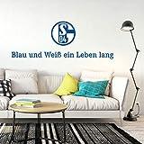 selbstklebendes Wandtattoo FC Schalke 04 Aufkleber Logo
