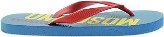 Moschino Swim Womens Flip Flops Turquoise/Red