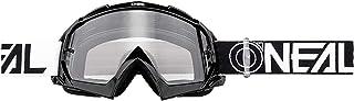 "O""NEAL | Motorcross-Brille | Motorrad Enduro | Modernes Rahmendesign, Glas aus hochwertiger 1,2 mm-3D-Linse, 100% UV-Schutz | B-10 Goggle TWOFACE | Klar Schwarz | One Size"