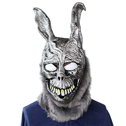 Scary Rabbit Halloween der Hase Latex Hood mit Pelz lustiges Geschenk