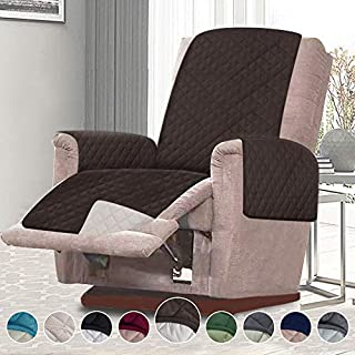 RHF Reversible Oversized Recliner Cover & Oversized Recliner Covers,Slipcovers for Recliner, Recliner Chair Cover,Pet Cover for Recliner,Machine Washable(XRecliner:Oversized:Chocolate/Beige)