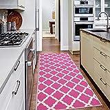 Ottomanson PNK7020-20X59 Trellis Rug, 20 Inch x 59 Inch, Pink