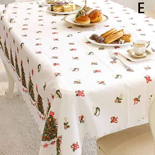 DirkFigge Mantel de Navidad, Decoración de la Cubierta del Mantel Que Imprime 150x180cm Durable para el hogar de la Fiesta de Navidad