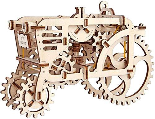 Rompecabezas de Madera 3D Tractor Modelo de transmisión mecánica DIY Ensamblaje móvil Rompecabezas Juguete Novedad Creativa Juguete Hecho a Mano para Ugears Regalo Mecánico para niños Fantastic