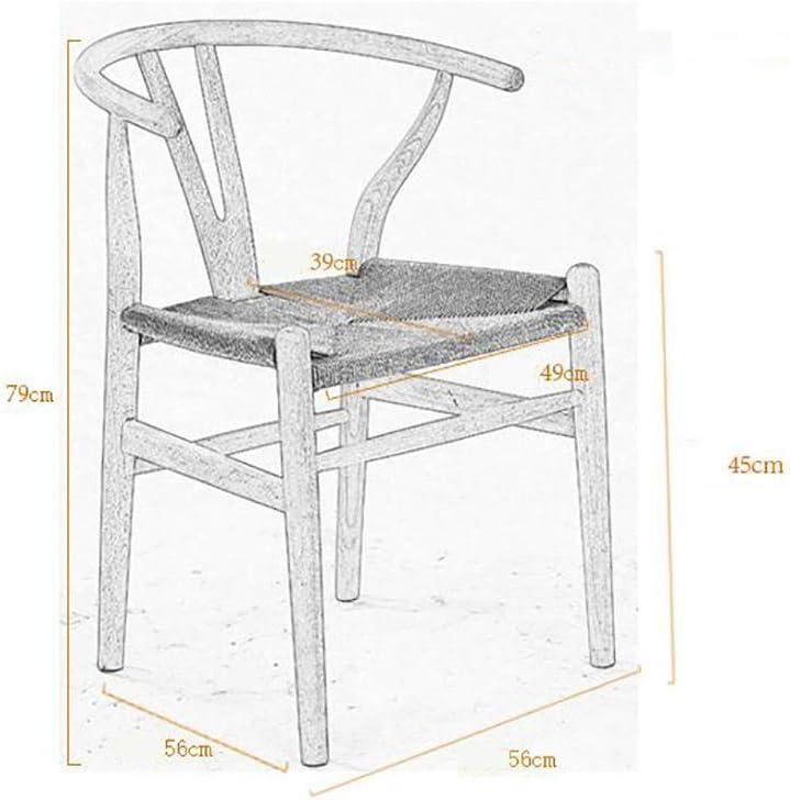 HURONG168 Chaises de cuisine Chaise de restaurant en bois massif chaise de restaurant chaise de café nordique chaise d'ordinateur dossier siège lounge (Couleur : A) B
