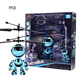 fghdfdhfdgjhh Rc Fliegen-Roboter E-Infrarot-Induktions-Flugzeugsteuerung Spielzeug Mini-Fernbedienung Hubschrauber Spielzeug für Jungen-Geschenk (Induktions-Roboter, Multicolor)