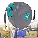 LZQ 20m Druckluftschlauch Aufroller automatisch 1/4' Anschluss Schlauchtrommel Wandschlauchhalter Automatik Druckluft Schlauchaufroller Druckluftschlauch-trommel