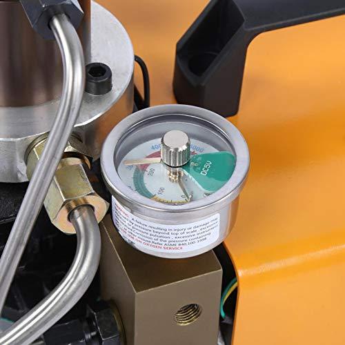 Con manómetro 4500psi Bomba de aire eléctrica Bomba neumática para tubería de...