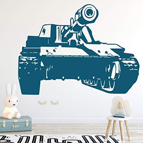 Pegatinas de pared con diseño de tanques militares para habitaciones de niños, pegatinas de decoración para pared, decoración del hogar, pegatina extraíble para habitación, A5 43x58cm