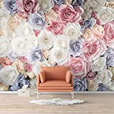 wall26 Wall Mural Elegant Rose Flower Floral Photo Removable Self-Adhesive Large Wallpaper - 66x96 inches
